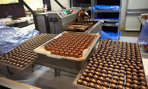 Chocolade productie Banketbakkerij